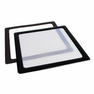 DEMCiflex Staubfilter 200mm, quadratisch - schwarz/weiß