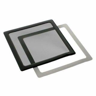 DEMCiflex Staubfilter 140mm schwarz/schwarz quadratisch