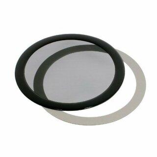 DEMCiflex 140mm, rund - schwarz/schwarz Staubfilter
