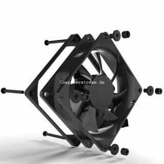 Noiseblocker P-1 BlackSilentPRO Fan 80 mm Silent Lüfter, geräuscharmer Kühler