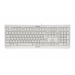Cherry KC 1000 corded Keyboard USB ultraflat grey (DE-Layout)