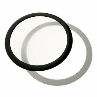 DEMCiflex 140mm, rund - schwarz/weiß  Staubfilter Fanfilter, Lüfterfilter