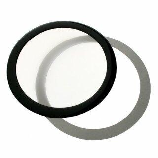DEMCiflex 120mm, rund, schwarz weiß Staubfilter, Lüfterfiter, Filter, Lüfter,Fan