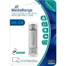 MediaRange MR937 64 GB USB 3.0 (3.1 Gen 1) Capacity USB...