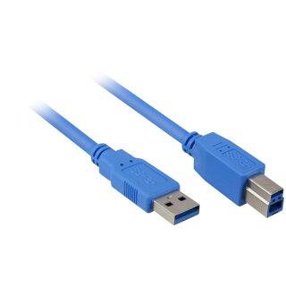 Sharkoon USB 3.0 Verbindungskabel 1 Meter Blau