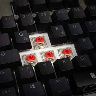 Ducky Shine 7 PBT grau, LEDs RGB, MX RGB RED, USB, DE gaming Tastatur