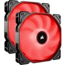 Corsair Air Series LED Red AF140 2018, 140mm, 2er-Pack...