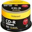Intenso CD-R 80min/700 MB 52x, 50er Spindel bedruckbar