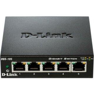 D-Link DGS-105/E Desktop Gigabit Switch, 5x RJ-45