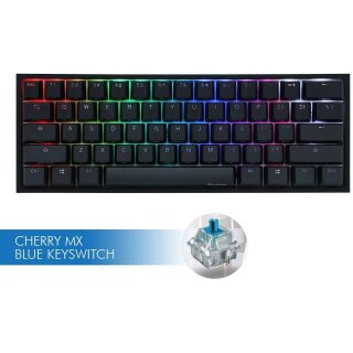 Ducky ONE 2 Mini Gaming Tastatur, MX-Blue, RGB-LED, schwarz - US Layout