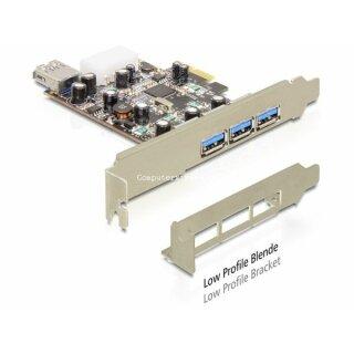 DeLOCK PCI Express Card 3 x extern 1 x intern USB 3.0