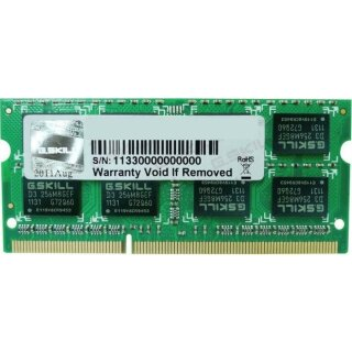 G.Skill SL Series SO-DIMM 8 GB, DDR3L-1600, CL11