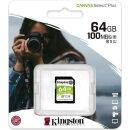 Kingston Canvas Select Plus R100 SDXC 64 GB, UHS-I U3,...