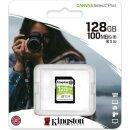 Kingston Canvas Select Plus R100/W85 SDXC 128 GB, UHS-I...