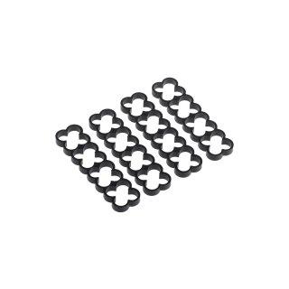 Alphacool Eiskamm Alu X16 - 4mm black - 4 Stück