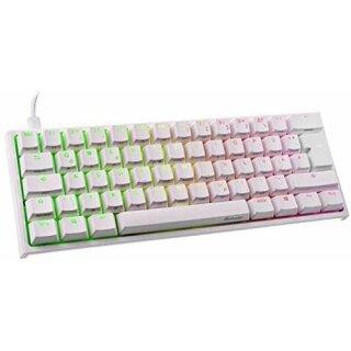 Ducky ONE 2 Mini Gaming Tastatur, MX-Black, RGB-LED - weiß