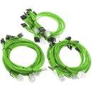 Super Flower Sleeve Cable Kit - grün