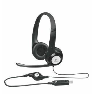 Logitech H390 Headset USB, schwarz