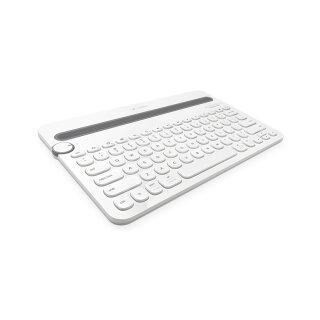 Logitech K480 Bluetooth-Tastatur, wireless, weiß