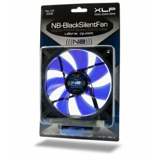 Noiseblocker XL-P NB-BlackSilent  Rev. 3.0 incl. NB-Slick Lüfter, FAN