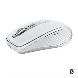 Logitech MX Anywhere 3, rechts, Bluetooth, Grau/Silber