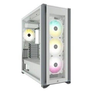 Corsair iCUE 7000X RGB TG, Big-Tower-Gehäuse weiß, Tempered Glass