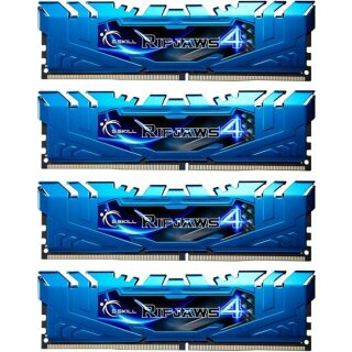 G.Skill RipJaws 4 blau DIMM Kit 16GB, DDR4-2400, CL15-15-15-35 (F4-2400C15Q-16GRB)