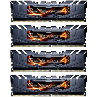 G.Skill RipJaws 4 schwarz DIMM Kit 16GB, DDR4-2133, CL15-15-15-35 (F4-2133C15Q-16GRK)