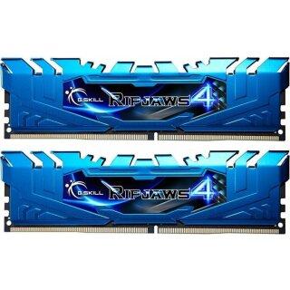 G.Skill RipJaws 4 blau DIMM Kit 8GB, DDR4-3000, CL15-16-16-35