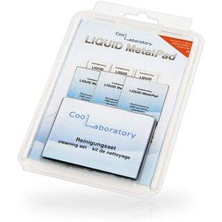 Coollaboratory Liquid Metal Pad - 3xCPU, 2xGPU, 1xReinigungsset