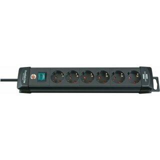 Brennenstuhl Premium-Line mit Schalter grau 6-fach, 3m