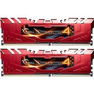 G.Skill RipJaws 4 rot DIMM Kit 16GB, DDR4-2666, CL15-15-15-35