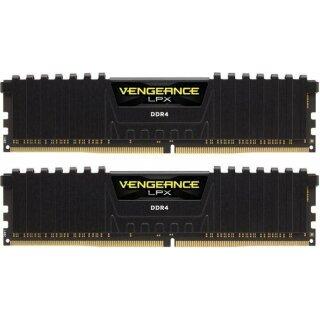Corsair Vengeance LPX schwarz DIMM Kit 8 GB, DDR4-2666, CL16, DDR4 RAM Speicher