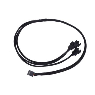 Phobya Y-Kabel 4Pin PWM auf 3x 4Pin PWM - Schwarz 60cm